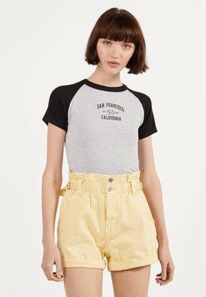 MIT RAGLANÄRMEL - Print T-shirt - light grey