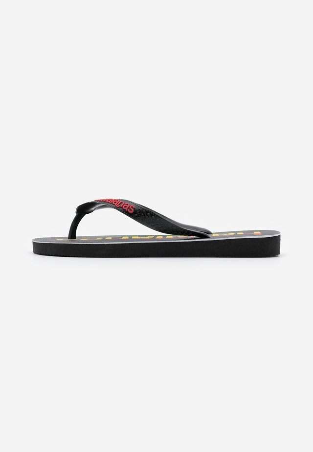 TOP LOGOMANIA UNISEX - Chanclas de dedo - black/red