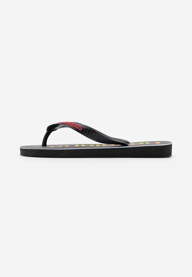 Havaianas - TOP LOGOMANIA  - Pool shoes - black/red