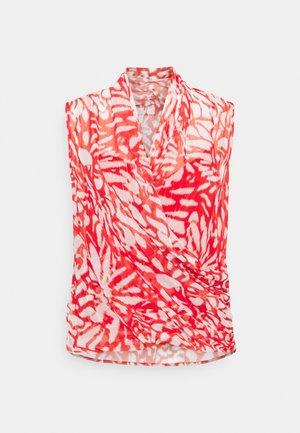 DASIA IKAT SURPLICE - Bluse - summer coral