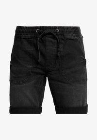 Redefined Rebel - COLOGNE DESTROY - Denim shorts - marble black - 3