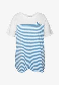 MY TRUE ME TOM TAILOR - Print T-shirt - whisper white/white - 4