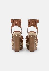 River Island - Platform sandals - brown light - 3