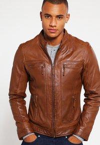 Oakwood - CASEY  - Leather jacket - tobacco - 0