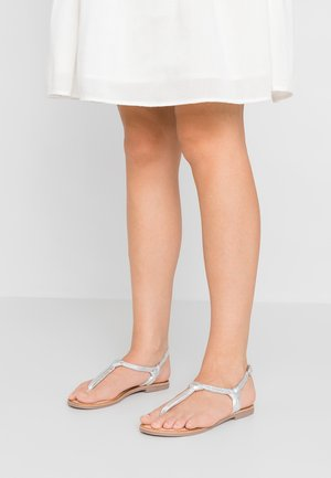 BORGIA - T-bar sandals - plata