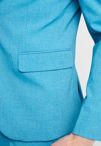 Lindbergh - PLAIN MENS SUIT - Oblek - turquoise melange - 10