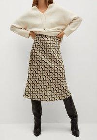 Mango - BIAS - A-line skirt - vert - 0