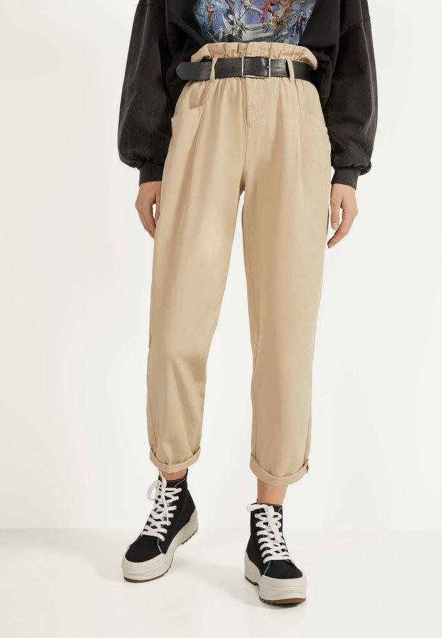 PAPERBAG - Pantaloni - beige