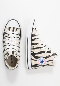 Converse - CHUCK TAYLOR ALL STAR ZEBRA PRINT  - Sneakers high - black/greige/white - 0
