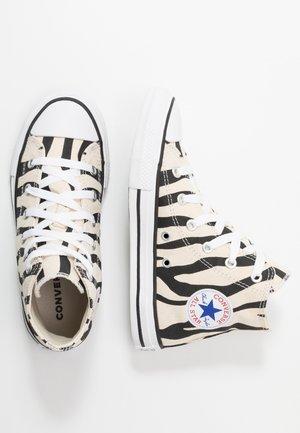 CHUCK TAYLOR ALL STAR ZEBRA PRINT  - Zapatillas altas - black/greige/white