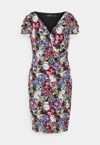 PICA SHORT SLEEVE DAY DRESS - Shift dress - cream/pink/multi