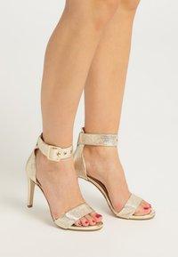 faina - High heeled sandals - gold - 0