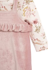 Next - DUNGAREE AND FLORAL BODYSUIT SET - Body - pink - 3