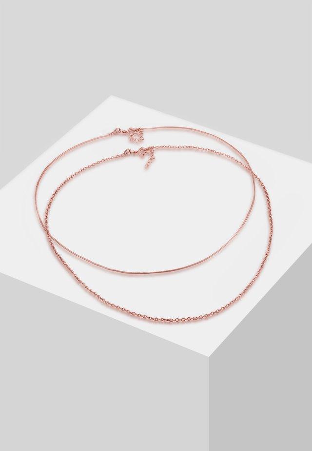 SET - Necklace - rose gold-coloured