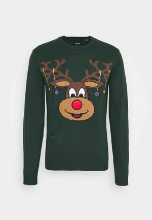 ONSXMAS FUNNY FRONT BADGE  - Jumper - pine grove