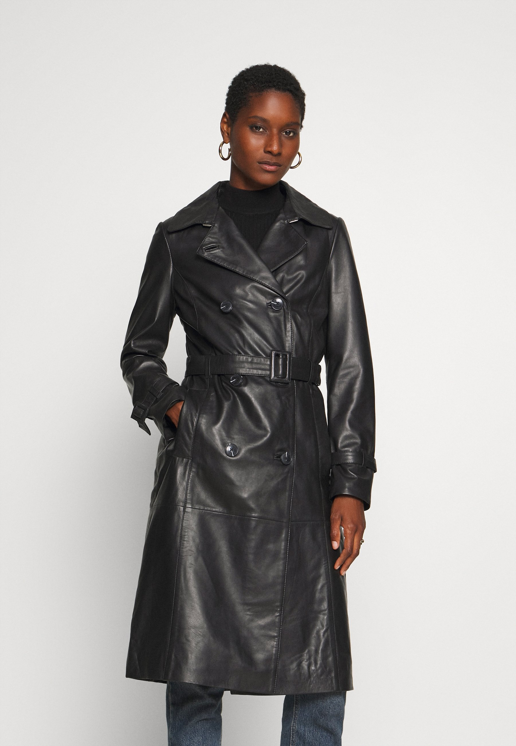 Buy Newest Women's Clothing Oakwood JOURNAL Trenchcoat black KPtHOrNxX
