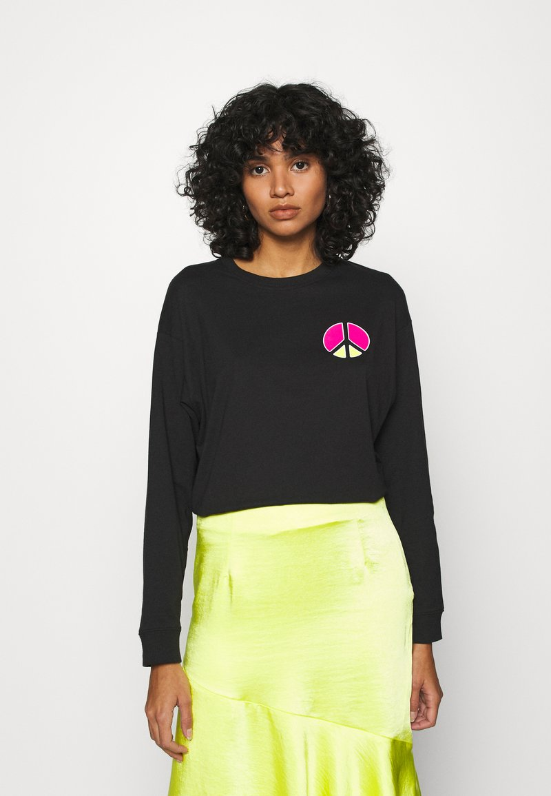 Levi's® - GRAPHIC LONG SLEEVE  - Longsleeve - neon caviar