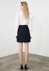 Trendyol - A-line skirt - navy blue - 2