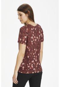 InWear - Basic T-shirt - russet brown asian floral - 2
