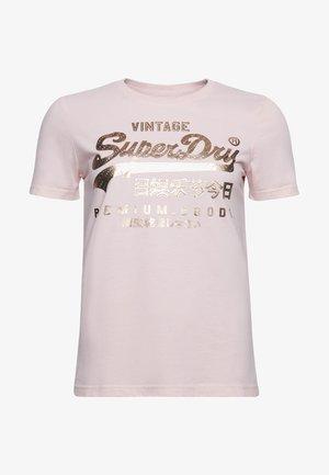 Print T-shirt - lotus marl
