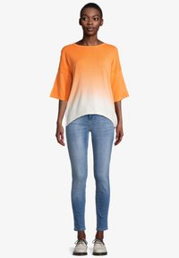 Cartoon - Jumper - white orange - 1