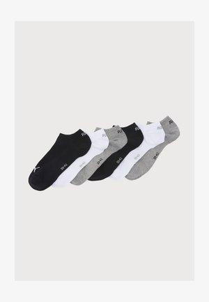 SNEAKER PLAIN 6 PACK UNISEX - Calcetines de deporte - black/grey