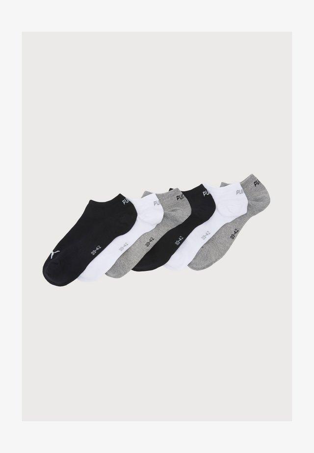 SNEAKER PLAIN 6 PACK UNISEX - Sportsocken - black/grey