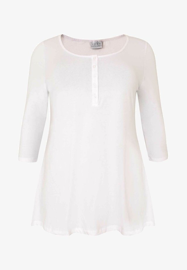WITH BUTTONS - T-shirt à manches longues - white