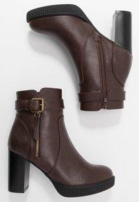 Anna Field - High heeled ankle boots - dark brown - 3