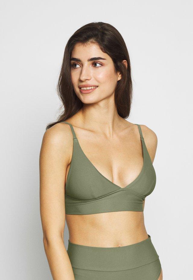 TRIANGLE LONGLINE SOLID - Top de bikini - olive fun