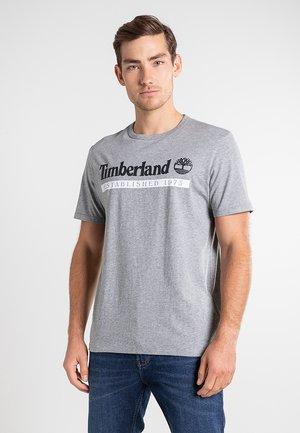 Print T-shirt - medium grey heather-white