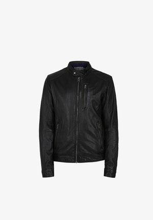 AGENT - Leather jacket - black