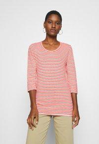 Marc O'Polo DENIM - T-SHIRT, 3 4 SLEEVE, Y D STRIPE - Camiseta de manga larga - multi/soft coral - 1