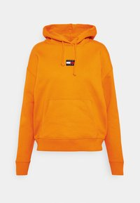 CENTER BADGE  - Hoodie - washed orange