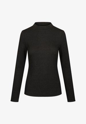 MIT HALBROLLKRAGEN - Long sleeved top - schwarz