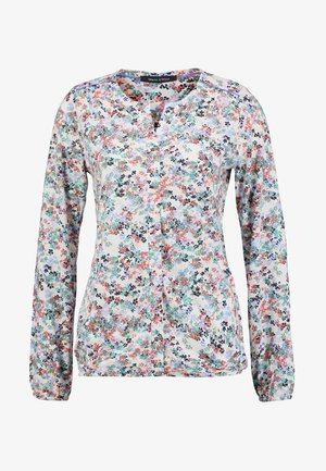 LONG SLEEVE ROUND NECK WITH PLACKET - Blouse - combo