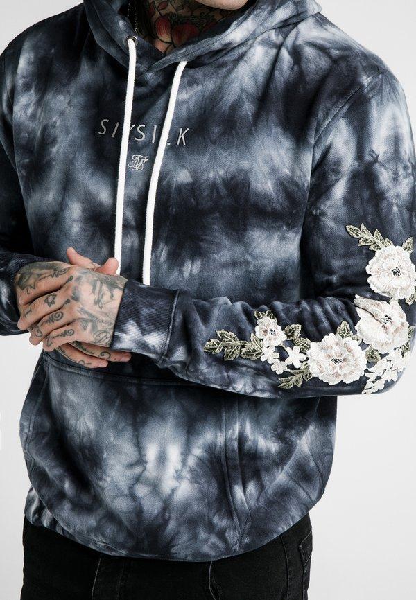 SIKSILK TIE DYE OVERHEAD HOODIE - Bluza z kapturem - dark blue/granatowy Odzież Męska GIES