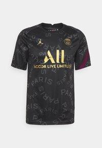 PARIS ST GERMAIN DRY  - Club wear - black/bordeaux/truly gold
