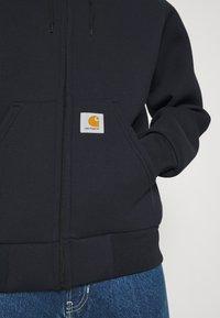 Carhartt WIP - CAR LUX HOODED JACKET - Sweater met rits - dark navy/grey - 5