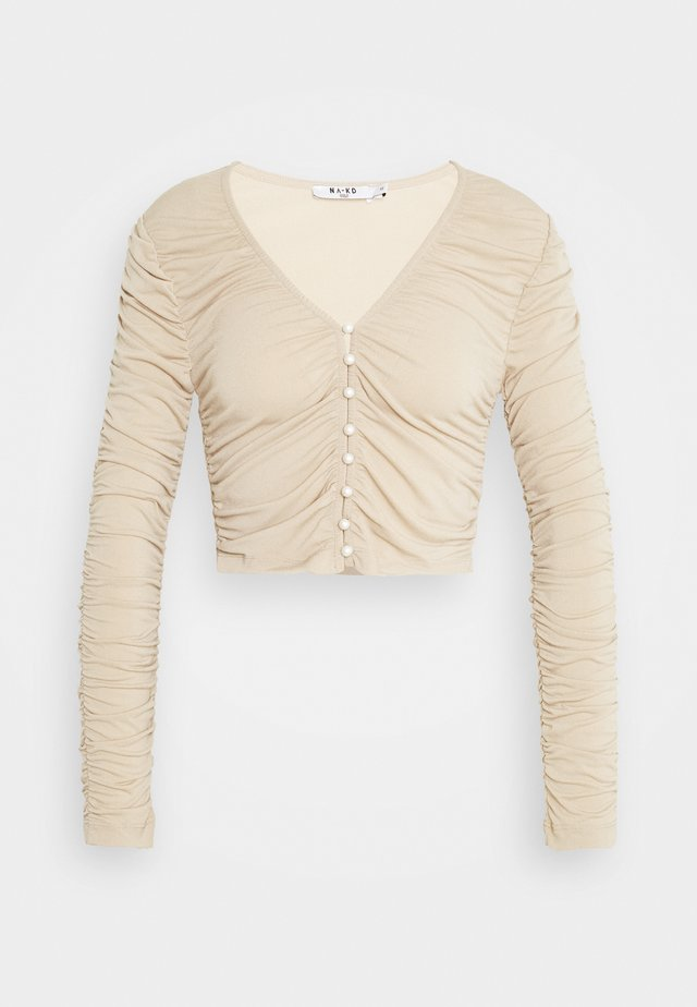 RUSHED  - Long sleeved top - beige