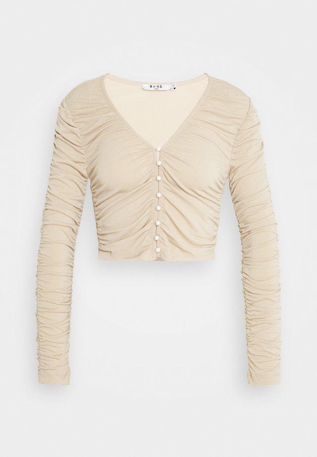 RUSHED  - Pitkähihainen paita - beige