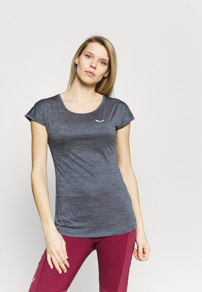 Salewa - PUEZ DRY TEE - Basic T-shirt - premium navy melange