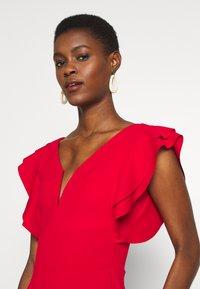 WAL G TALL - V NECK FRILL SLEEVE FIT FLARE DRESS - Žerzejové šaty - red - 3