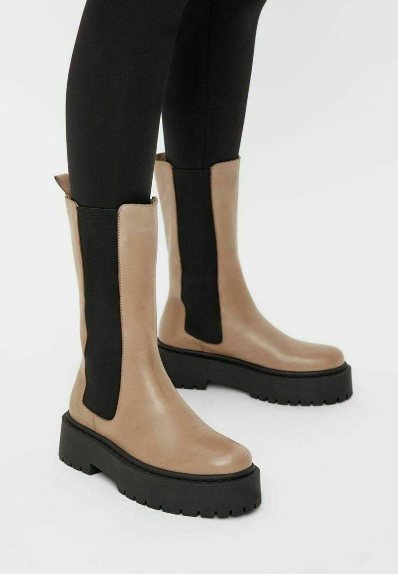 Bianco - BIADEB  - Platform boots - lightbrown6