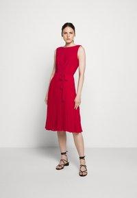 Lauren Ralph Lauren - MID WEIGHT DRESS  COMBO - Day dress - berry sorbet - 1