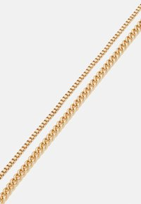 Topman - TWO ROW SNAKE CHAIN NECKLACE 2 PACK - Náhrdelník - gold-coloured - 2