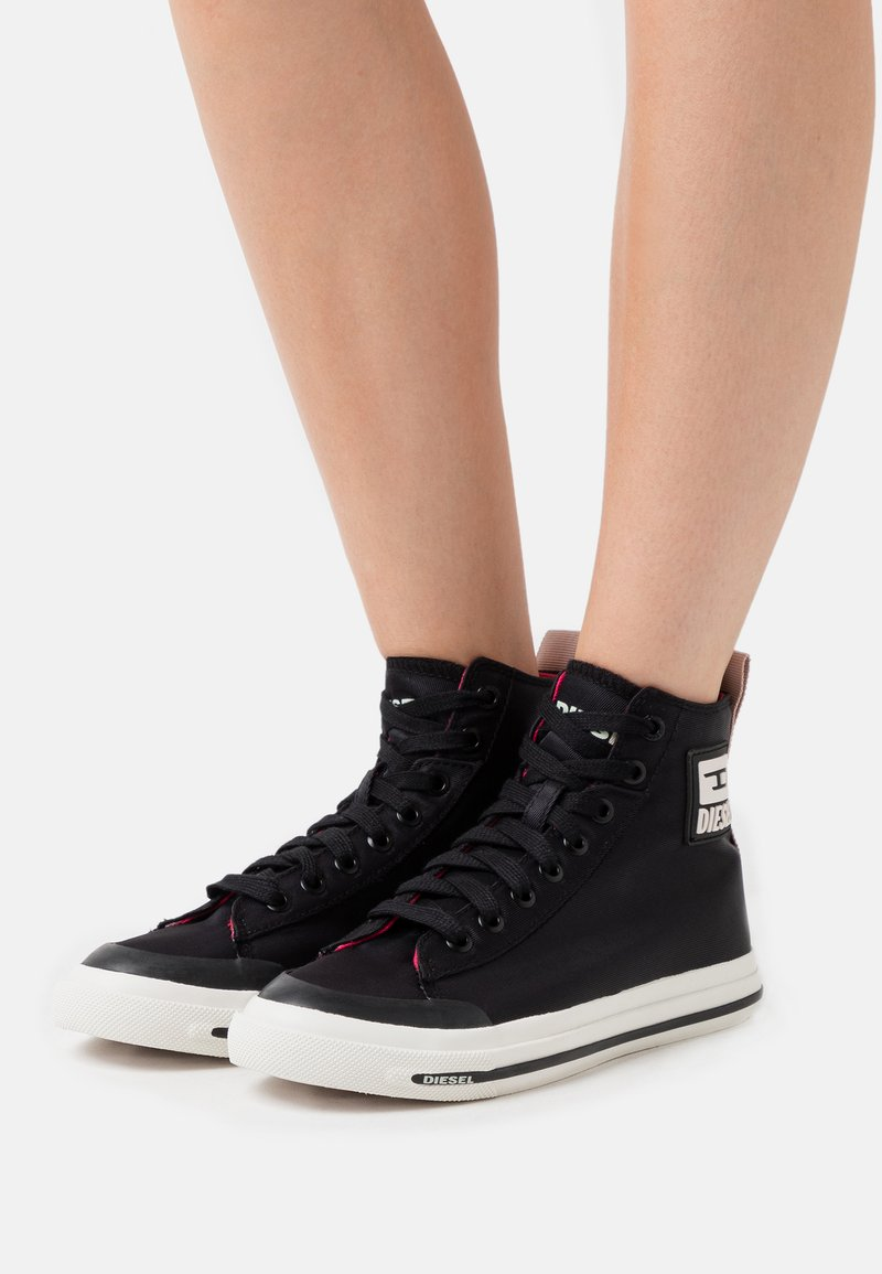 Diesel - High-top trainers - black