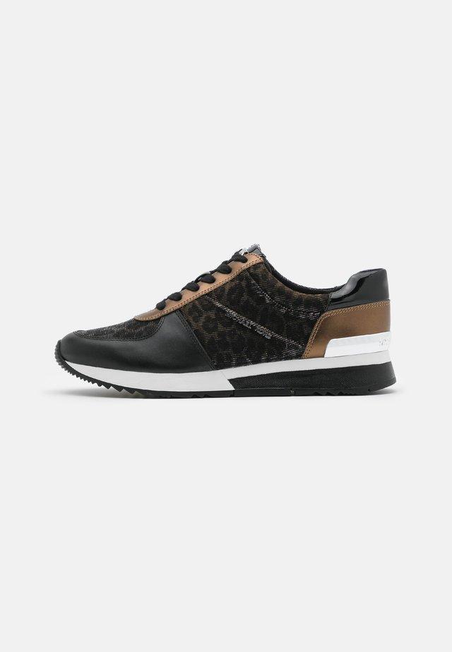 ALLIE TRAINER - Sneakersy niskie - black/bronze