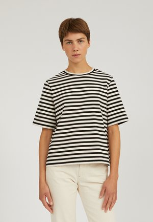 LAYAA - T-shirt print - undyed-black