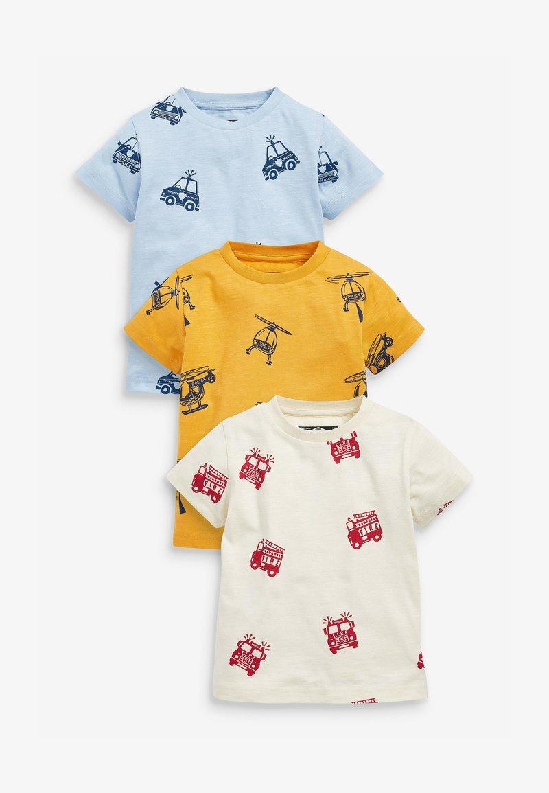 Next - 3 PACK  - Print T-shirt - off-white